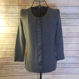 Ann Taylor S rabbit hair blend gray sweater